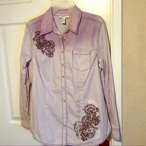 Western button up blouse