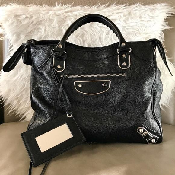 0dae894b36 Balenciaga Handbags - Balenciaga Metallic Edge Velo Bag Black