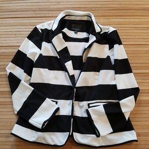 Cynthia Rowley striped blazed XL