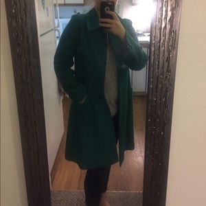 XL teal green winter coat in perfect condition!