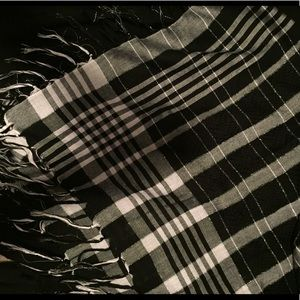 Express Plaid Lurex Scarf