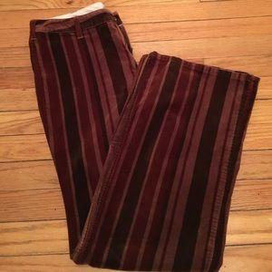Vintage inspired velvet pants