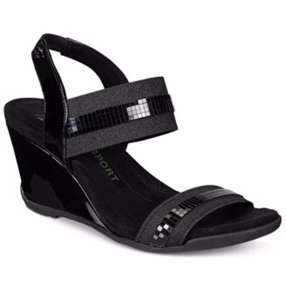 810a534233f6 NWT Anne Klein Lucy May Wedge Sandals