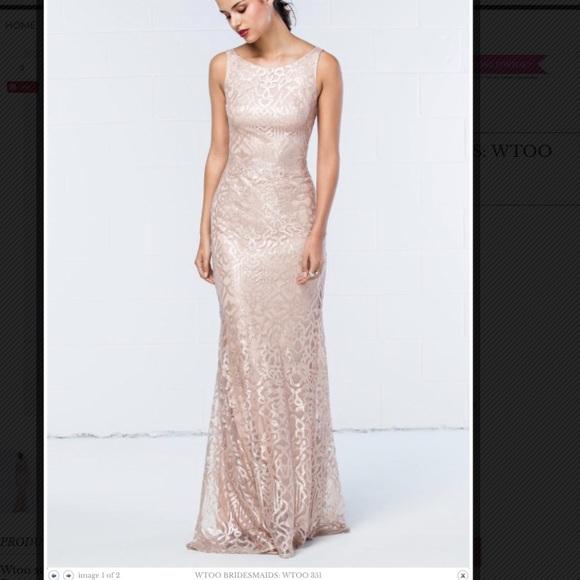 wtoo Dresses | Rose Gold Bridesmaid Dress | Poshmark
