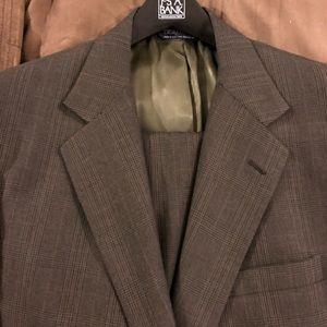Polo Ralph Lauren Olive Plaid Suit size 44L Long