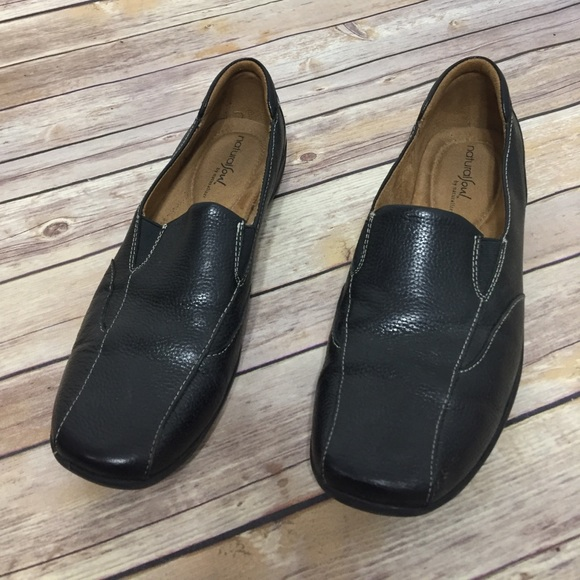 Naturalizer Shoes - Black leather slip on shoes, size 9