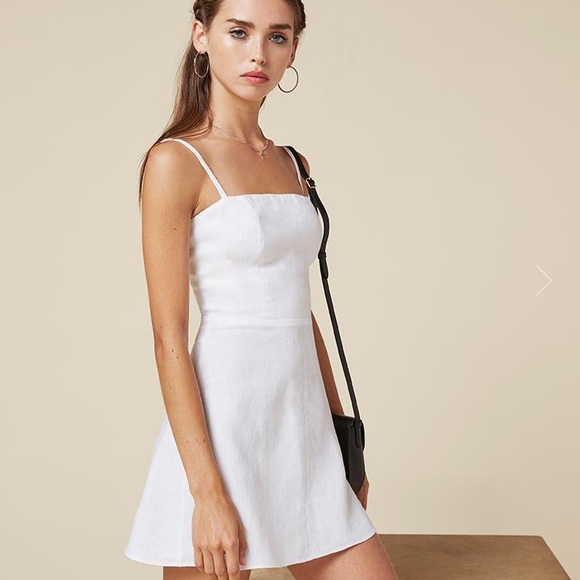 2bb3f899738 Reformation White Auden mini strappy. M 5a090066981829f428146b46. Other  Dresses ...
