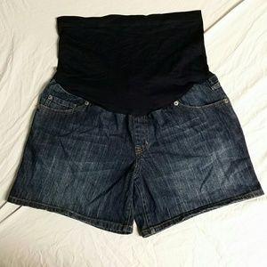 Liz lange maternity blue jean shorts A1