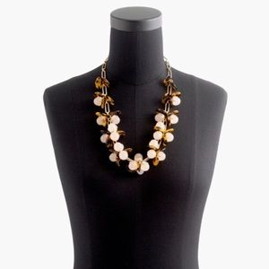 J.Crew tortoise and blush necklace