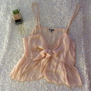 Light Pink Knotted Crop Tank