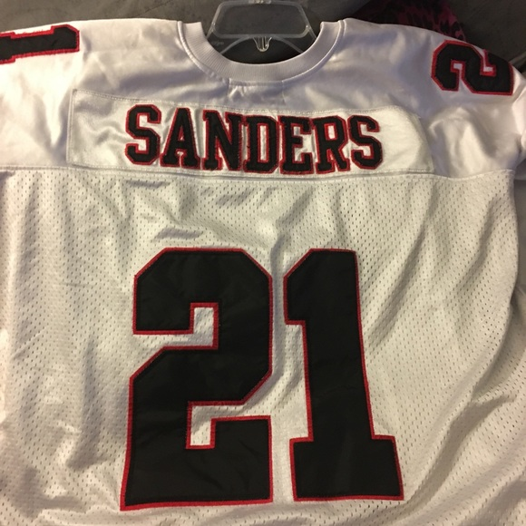 sports shoes fb829 ca931 Throwback Deion Sanders Atlanta Falcons Jersey