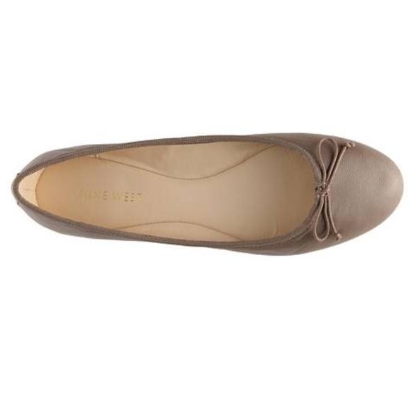 complete range of articles rock-bottom price wide range Nine West Classica Leather Ballet Flats - Gray
