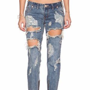 Oneteaspoon Brave Freebird Distressed Jeans 30