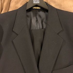 Brooks Brothers Solid Navy Blue Suit 46R