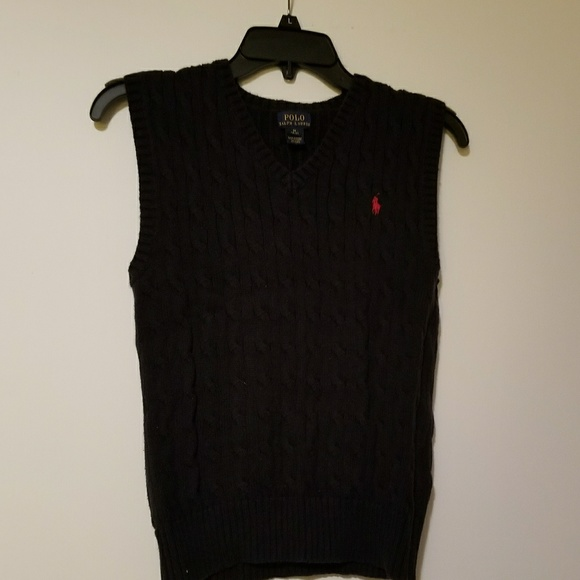 78% off Ralph Lauren Other - Ralph Lauren Polo Navy Sweater Vest ...