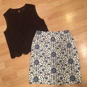 Ralph Lauren modified A-line skirt