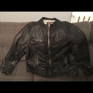 Other - Men's Brown Genuine Leather Motorcycle Jacket