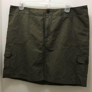 Merona Army green mini skirt
