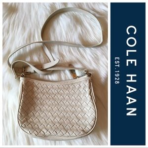 Cole Haan Leather Woven Crossbody Bag