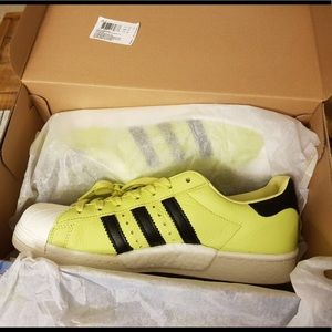 fc787aee8b7 adidas Shoes - Men s adidas Superstar Boost Shoes in Bliss Lime