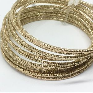 Jewelry - Gold glitter metal bangle set of 10 Indian style