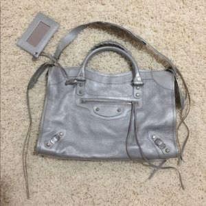 Balenciaga classic city bag silver