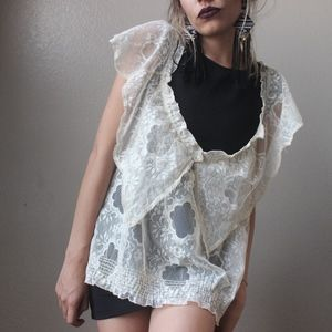Vintage Top Sexy Crochet Lace Cover Up Top
