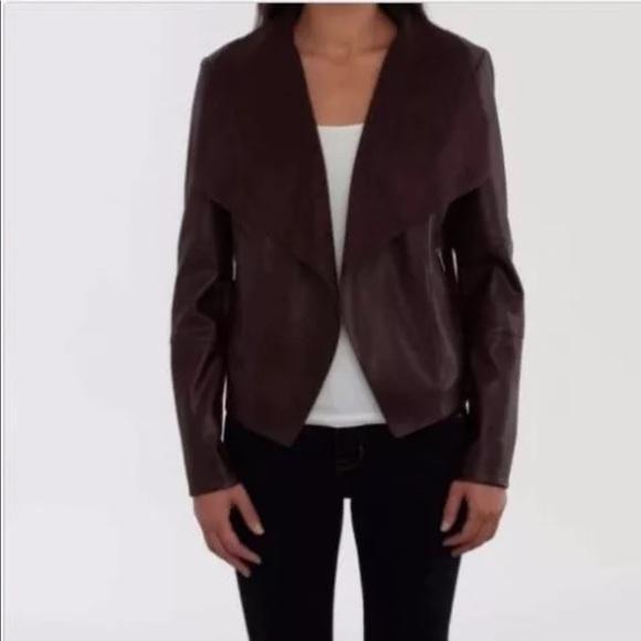 4843d4dd9f BAGATELLE Jackets & Coats   Faux Leather Drape Jacket By   Poshmark