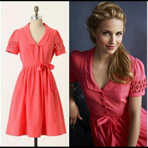 770db70d4d59 Anthropologie Dresses & Skirts - Anthropologie Maeve coral dress