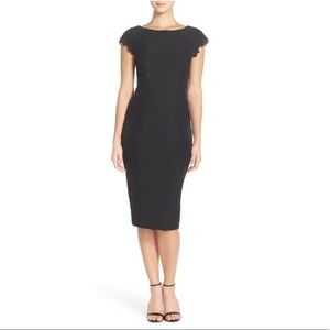 Maggy London Nordstrom Lace Detail Crepe Sheath 4P