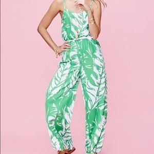 Lilly Pulitzer Green Palm Jumpsuit NWT