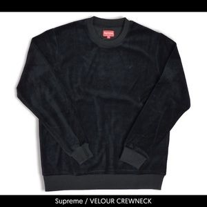supreme velour crewneck never work