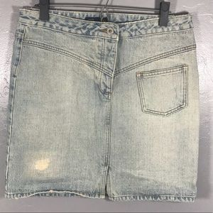 J. Crew Denim Skirt Vintage 90s Light Wash 10