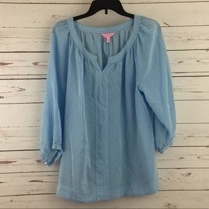 fe2a186fa85e3 Lilly Pulitzer Tops - ⭐️SOLD⭐️Lilly Pulitzer Moxy Top Blue and white