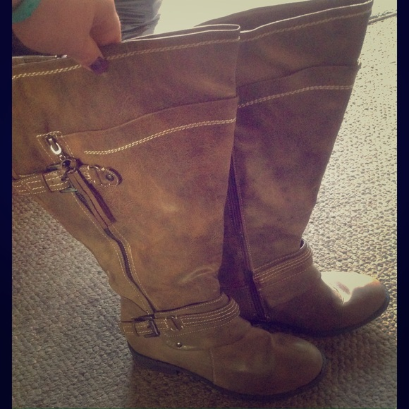 a1ebf6ac79c Light Brown Avenue Wide Calf Boots