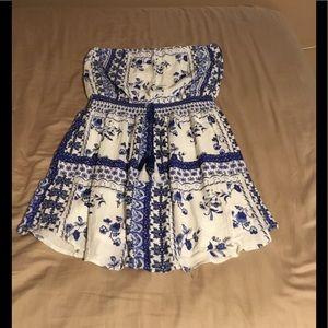 Summer strapless mini dress