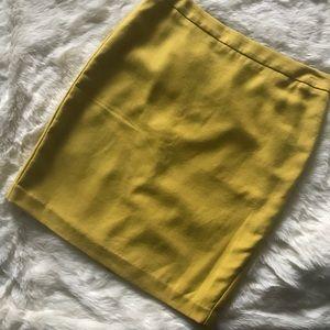 Cabi mustard Yellow pencil skirt