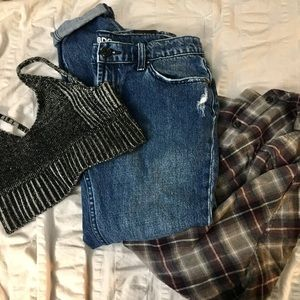 BDG slim boyfriend jeans in deep indigo