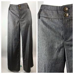 Anthropologie Elevenses Wide Leg Metallic Trousers