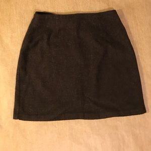 "Brown Wool Blend 16"" Skirt, Vintage Tracy Evans"