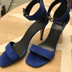 Celine Roy's blue heels