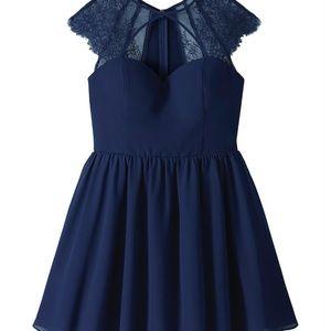 Navy blue skater dress