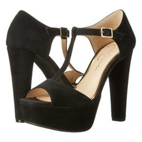 Jessica Simpson Shoes - Jessica Simpson platform suede heels SHOES sz 9