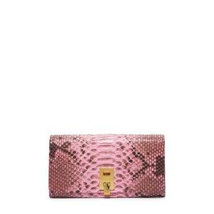 Michael Kors Miranda pink sueded wallet