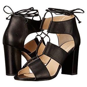 Summit Leather Black Strappy Heel (US 6, UK 36 M)