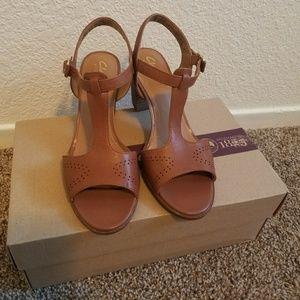 956b58800 Clarks Shoes - Clarks Ciera Glass T-Strap Sandal