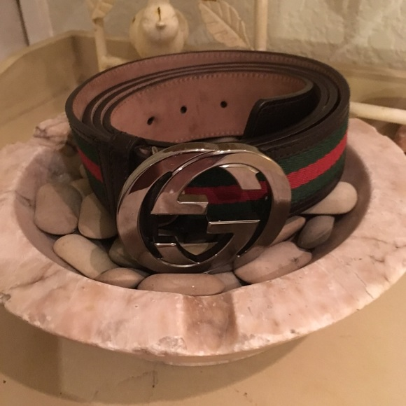 b93c8f0c3 Gucci Accessories | Mens Signature Stitched Belt Size 50125 | Poshmark