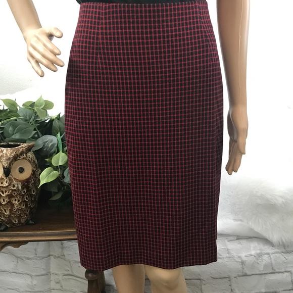 addf9512ea J. Jill Skirts | Jjill Pencil Skirt Plaid Stretch Skirt Sz M | Poshmark