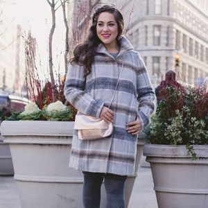 Loft Plaid coat