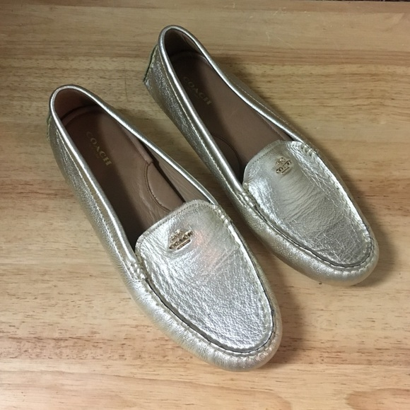 eaee5c10969f Coach Shoes - 💕💕 Coach gold loafers size 9.5 great condition